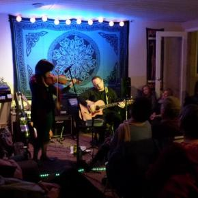 Chinese Melodrama jams with Emily Elbert at house concert