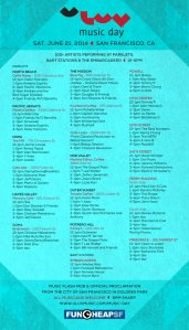 ULUV Music schedule