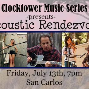 Acoustic Rendez-Vous continues this Friday at Clock Tower Music in San Carlos!